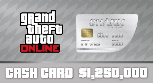 GTA Online: Great White Shark Cash Card 1 250 000 $