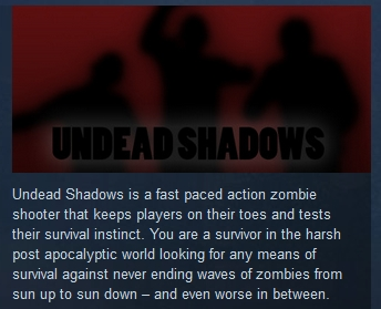 Undead Shadows ( Steam Key / Region Free ) GLOBAL