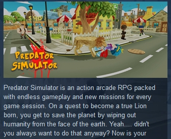 Predator Simulator ( Steam Key / Region Free ) GLOBAL
