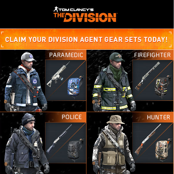 Tom Clancy´s The Division Exclusive DLC 4 KEYs Upl