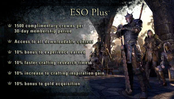 The Elder Scrolls Online - ESO PLUS 60 days 3000 crons
