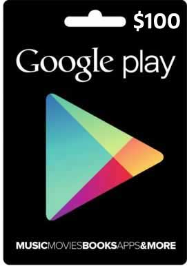 Google Play Gift $100