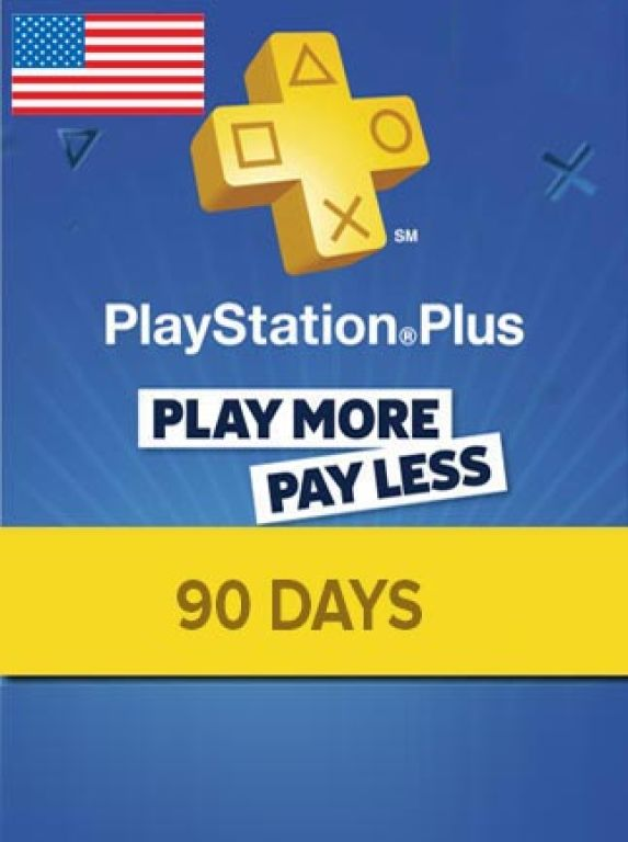 Playstation Plus PSN Plus 90 days USA