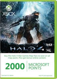 Xbox Live - 2000 MS Points (EUR,RUS) - Скан