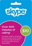 Skype ваучер 10 USD - оригинальный ваучер скайп