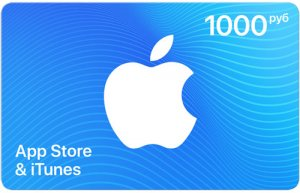 Payment card App Store & iTunes gift  1000 rub