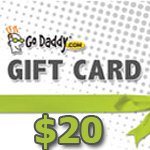 GoDaddy Gift Card 20 USD