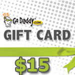 Godaddy Gift Card 15 USD