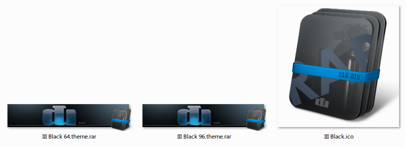 Icons dtu WinRar III Black 64 & 96 (EXCLUSIVE)