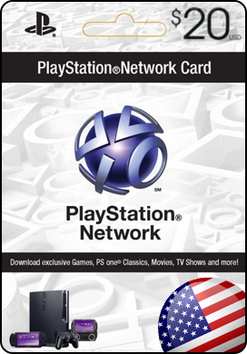 PLAYSTATION NETWORK (PSN) 20$ (USA)