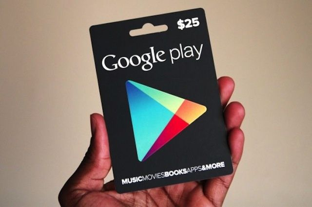 Google Play Gift Card  $25 (US) PHYSICAL