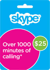 Skype USD 25 original voucher - Go. on Skype.com