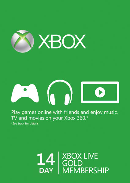 Xbox Live Gold 14-Days XBOX ONE Trial Code GLOBAL