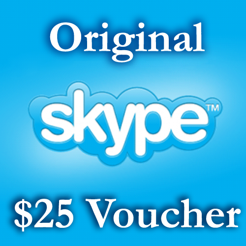 25 USD Genuine Card for Skype.com 25$ ORIGINAL