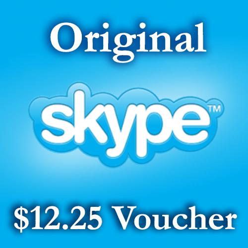 Купить 12.3$ Ваучер пополнения - Skype.com - СКИДКА 5%