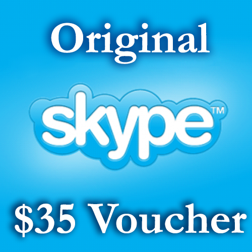 35 USD Genuine Cards for Skype.com 25$+10$ ORIGINAL
