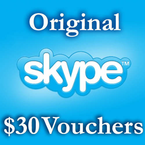 30 USD Genuine Cards for Skype.com 3*10$ ORIGINAL