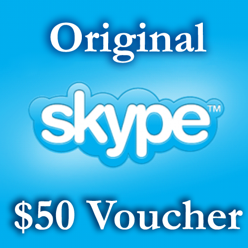 50 USD Genuine Cards for Skype.com 2*25$ ORIGINAL