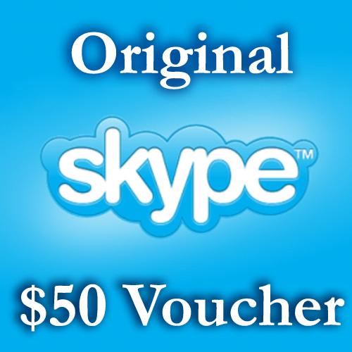 Купить 50USD Ваучер пополнения 1*50$ Активация на Skype.com