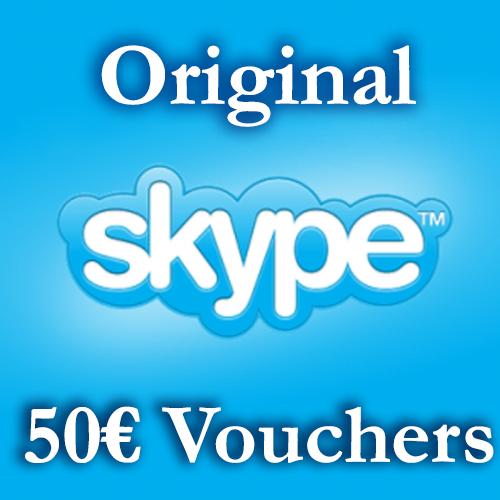 Купить 50EURO Скайп Ваучеры 5*10€ ≈58$ СКИДКА 22%