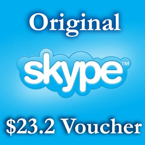 Купить 23.2$ Ваучеры пополнения Skype 2*11,6$ СКИДКА 18%