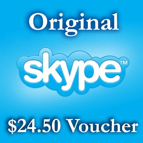Купить 24.6$ Ваучеры пополнения Skype 2*12,3$ СКИДКА 6%