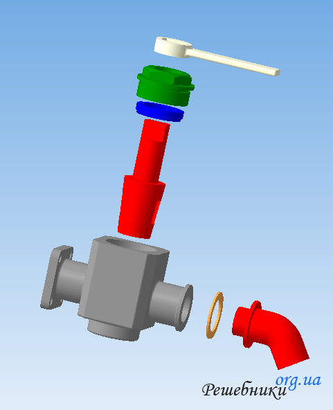 Assembly drawing (drain valve)