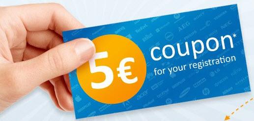 Voucher, 5 euro discount voucher for computeruniverse 2019