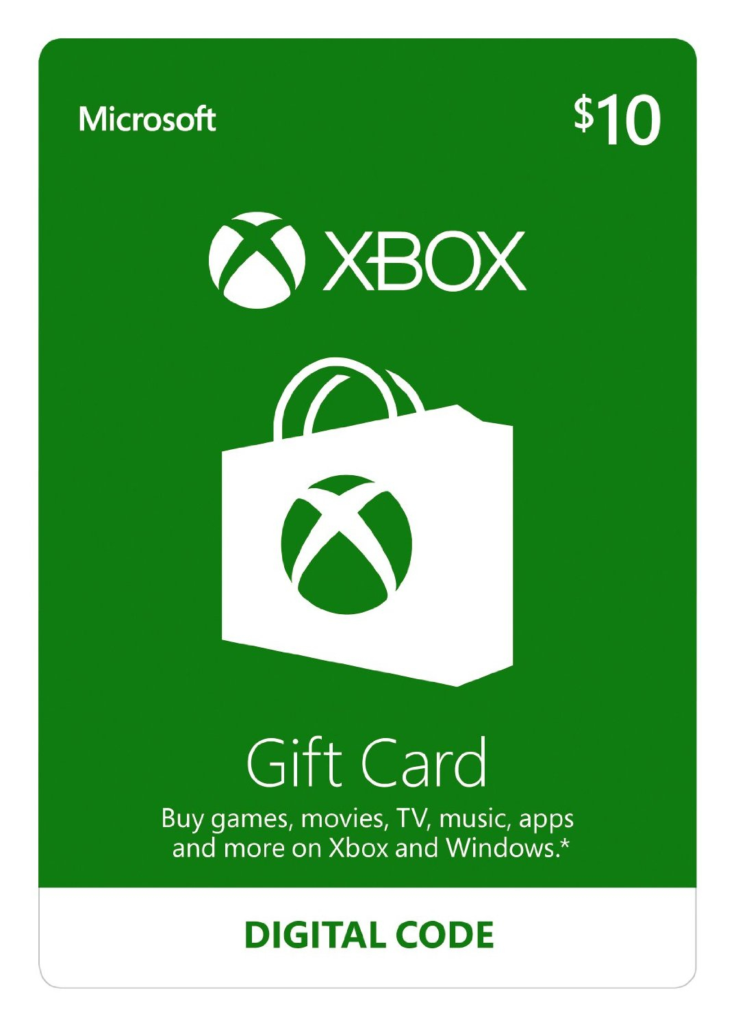 Xbox $10 Gift Card - Digital Code