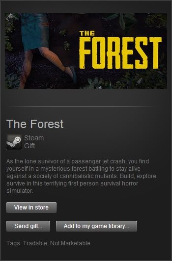 The Forest (Steam Gift / Region Free)