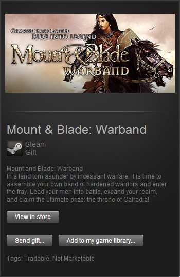 Mount & Blade: Warband (Steam Gift / Region Free)