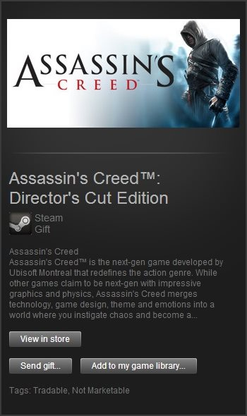 Assassins Creed Directors Cut (Steam Gift / ROW)
