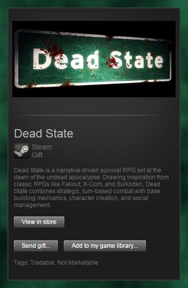 Dead State (Steam Gift / Region Free)