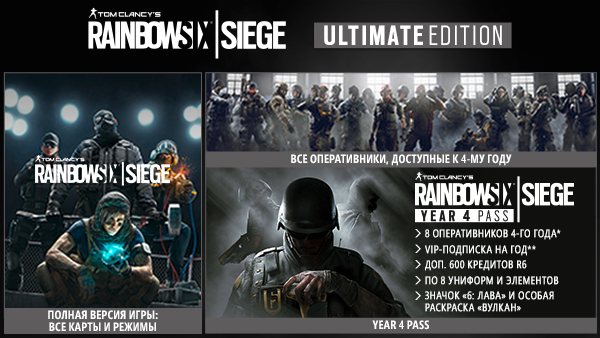 Rainbow Six Siege Deluxe/Gold/Ultimate STEAM Gift RU