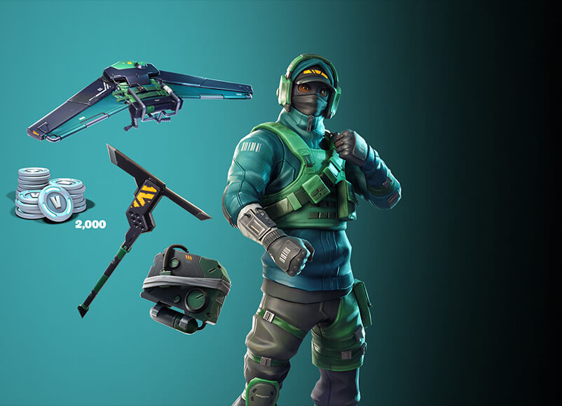 FORTNITE BUNDLE 2000 V-BUCKS COUNTERATTACK SET (EPIC)