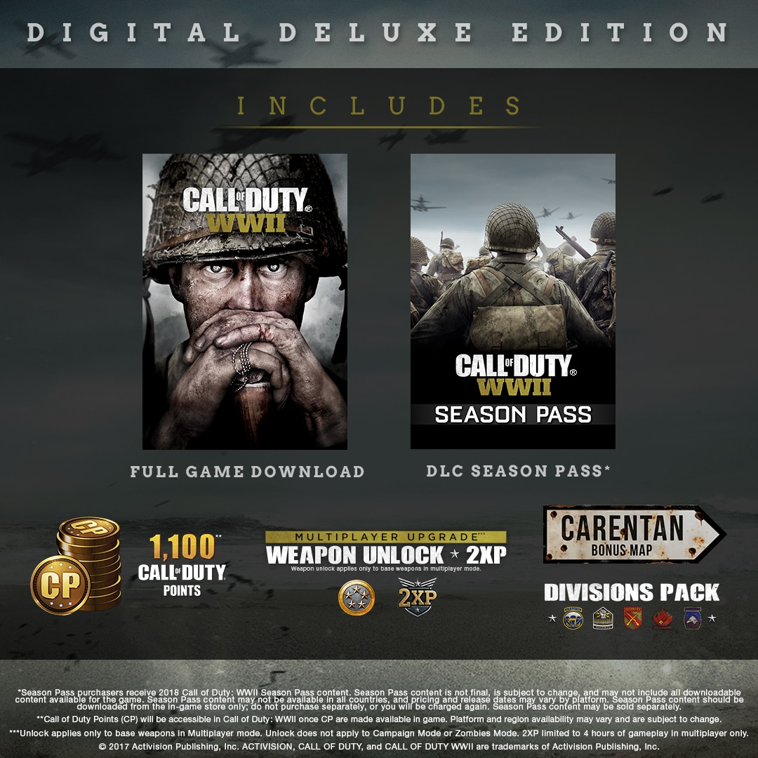 ✅ Call of Duty: WWII - Digital Deluxe XBOX ONE KEY 🔑