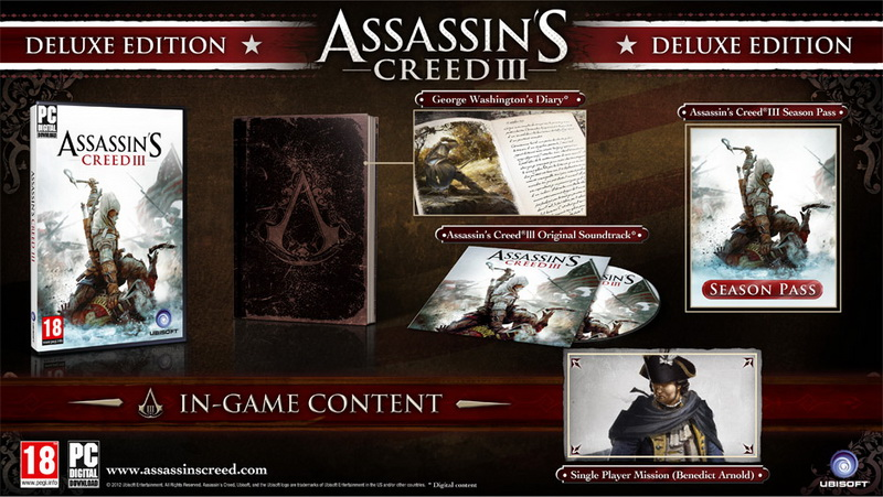 Assassins Creed 3 III Deluxe (Steam Gift RU + CIS)