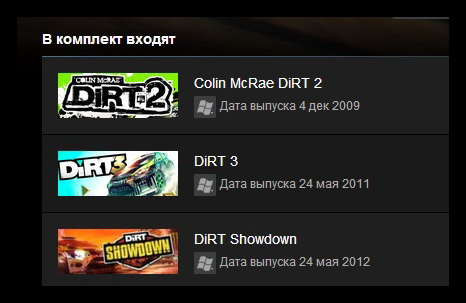 DiRT Megapack 3 GAMES (STEAM GIFT ROW / REGION FREE)