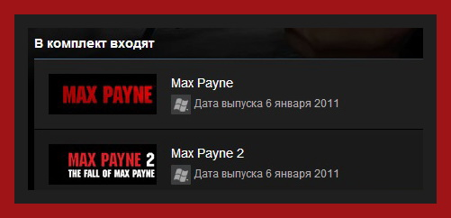 Max Payne Bundle (Steam Gift ROW / Region Free)