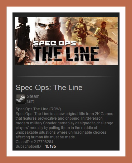Spec Ops: The Line (Steam Gift ROW / Region Free)
