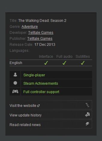 Walking dead steam coupon