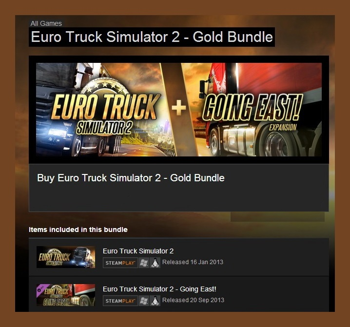 Euro Truck Simulator 2 Gold Bundle (Steam Region Free)