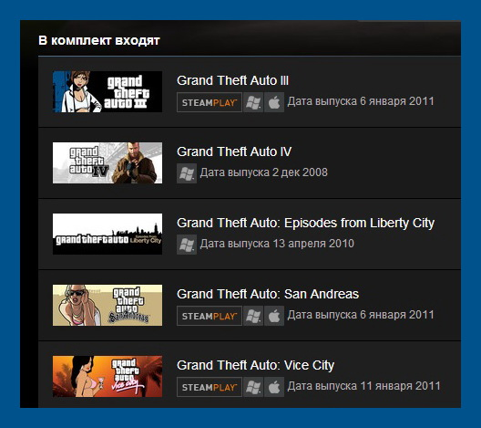 Grand Theft Auto Complete Pack (Steam Gift RU+CIS/+VPN)