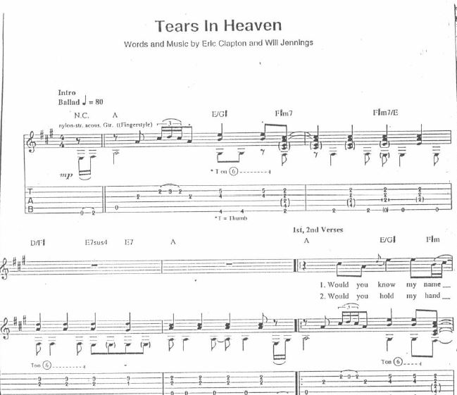 Eric Clapton - Tears in Heaven Unplugged