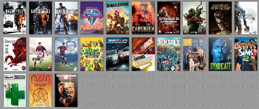 BF3 + BF4 + BD2 + FIFA 15 + 17 игр + 10 steam games