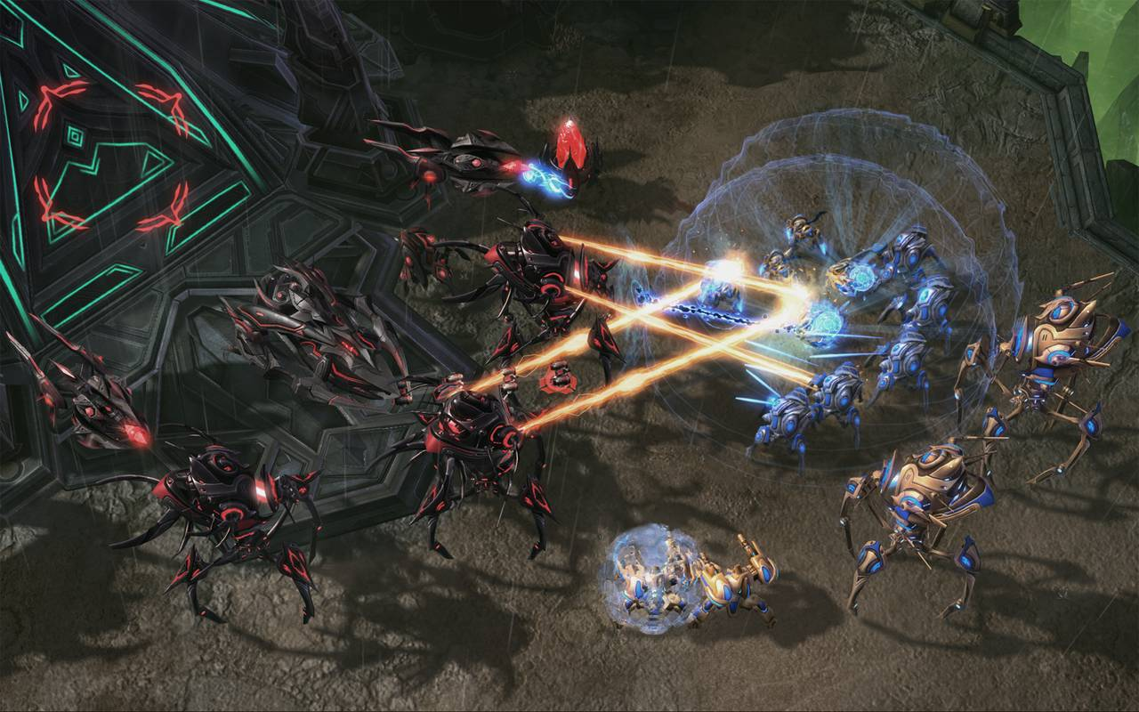 Starcraft ii: legacy of the void battle. Net cooperative gameplay.