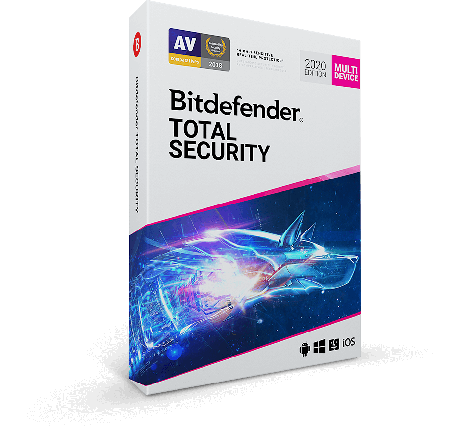 Bitdefender Total Security 2020 90 days 5 devices