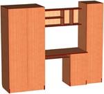 Детская 001 - комплект чертежей для изготовления мебели