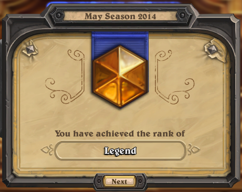 LEGENDARY SHIRT (RANK LEGEND) HEARTHSTONE.