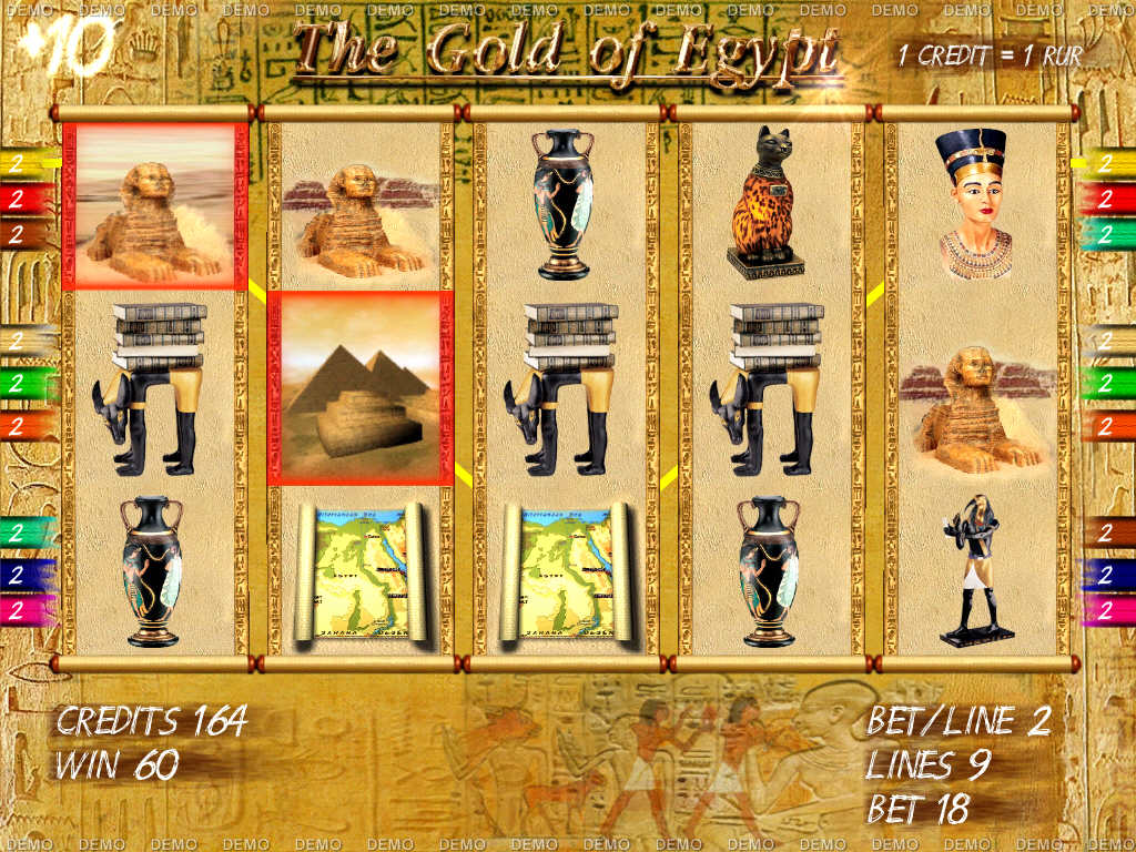 Slot machine emulator Gold of Egypt